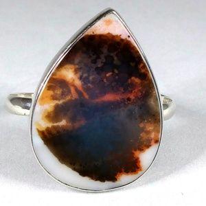 Jewelry - Dendritic Agate sterling cuff bracelet